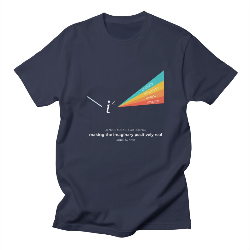Denver March For Science i^4 in Men's Regular T-Shirt Navy by Denver March For Science's Artist Shop