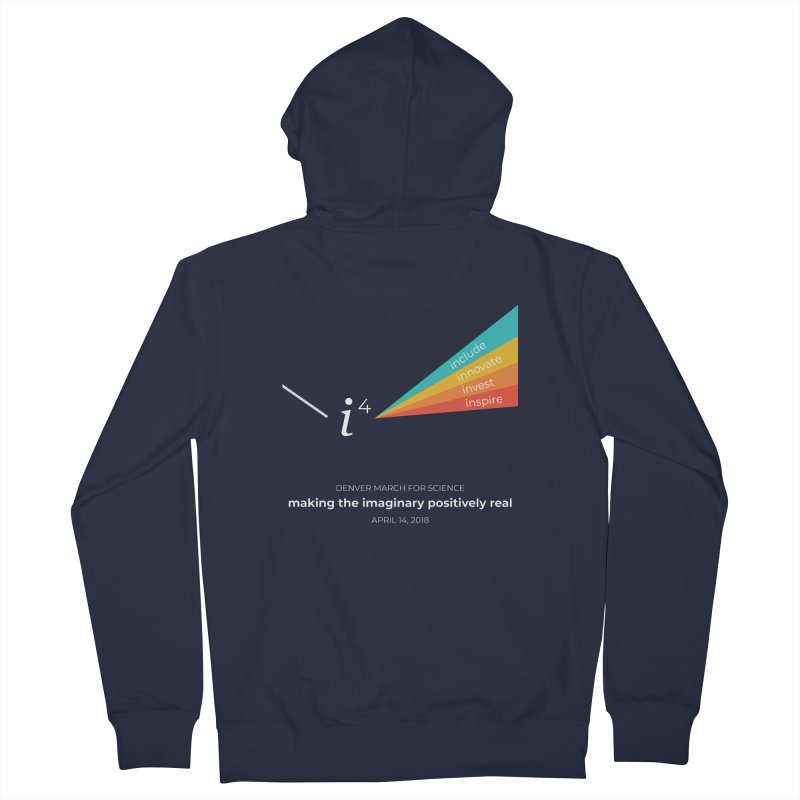 Denver March For Science i^4 Men's French Terry Zip-Up Hoody by Denver March For Science's Artist Shop
