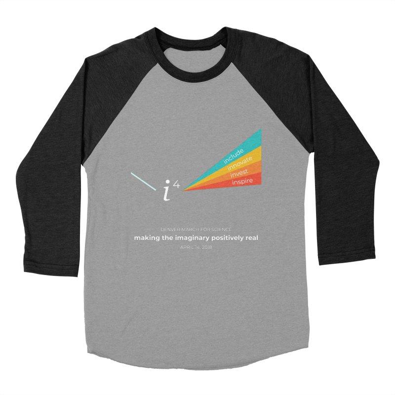 Denver March For Science i^4 Men's Baseball Triblend Longsleeve T-Shirt by Denver March For Science's Artist Shop