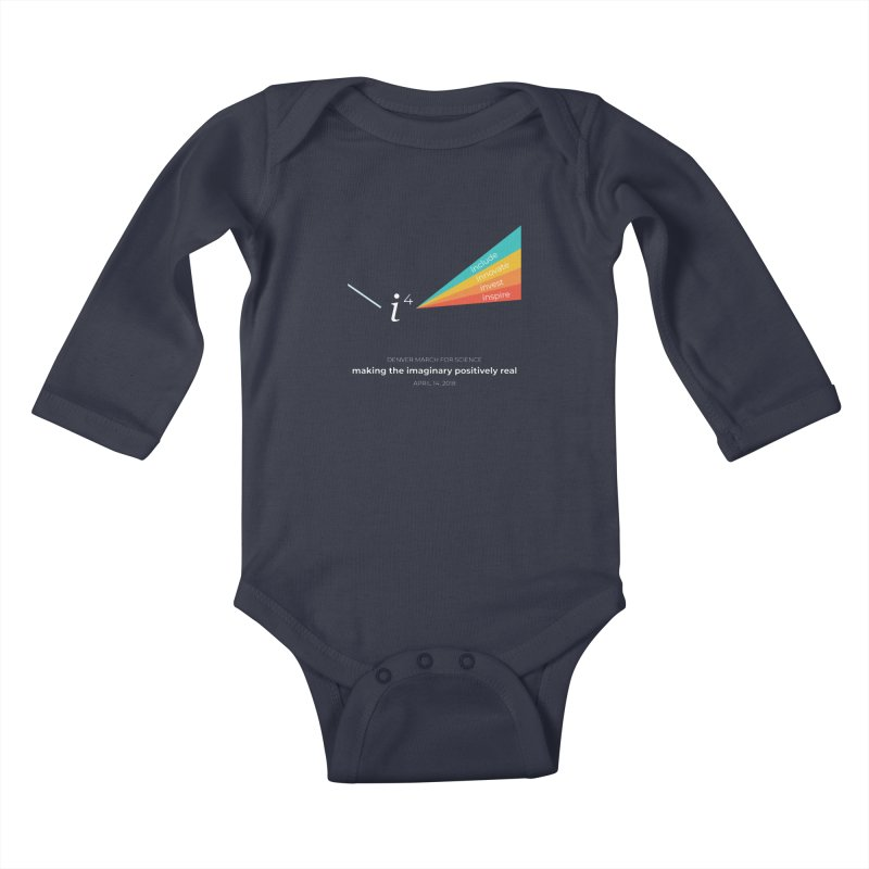 Denver March For Science i^4 Kids Baby Longsleeve Bodysuit by Denver March For Science's Artist Shop