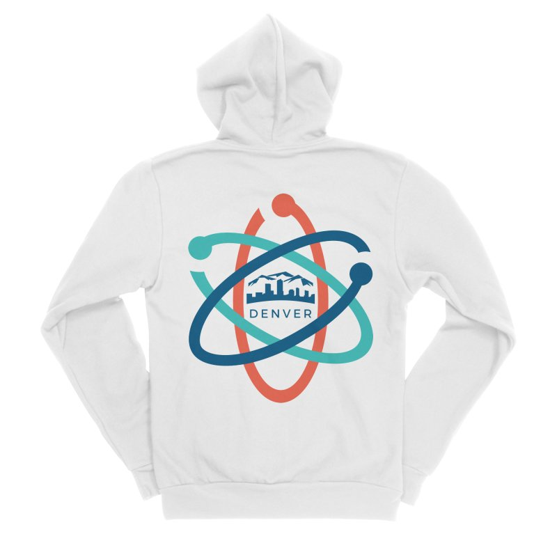 Denver March For Science Logo Men's Sponge Fleece Zip-Up Hoody by Denver March For Science's Artist Shop