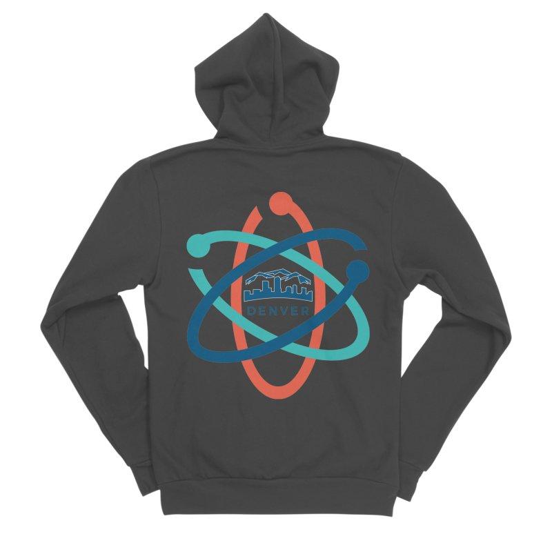 Denver March For Science Logo Men's Sponge Fleece Zip-Up Hoody by Denver March For Science's Artist Shop