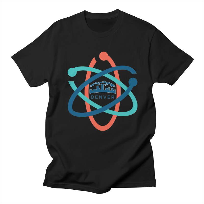Denver March For Science Logo in Men's Regular T-Shirt Black by Denver March For Science's Artist Shop