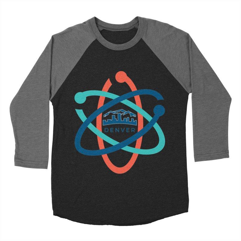 Denver March For Science Logo Men's Baseball Triblend Longsleeve T-Shirt by Denver March For Science's Artist Shop