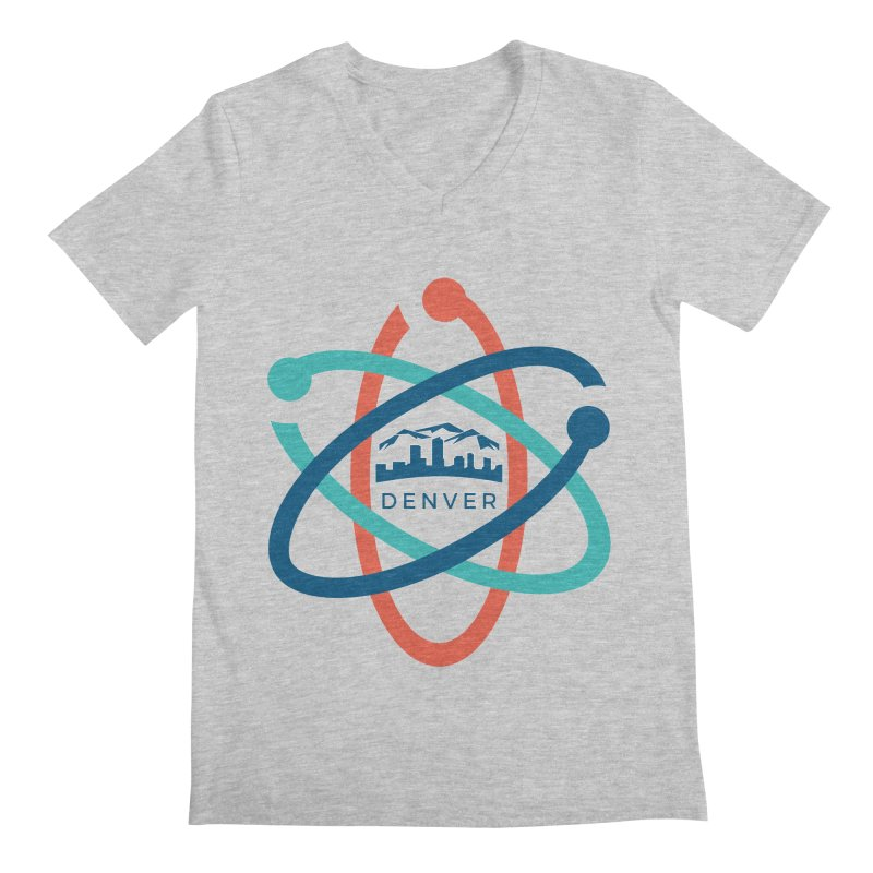 Denver March For Science Logo Men's Regular V-Neck by Denver March For Science's Artist Shop