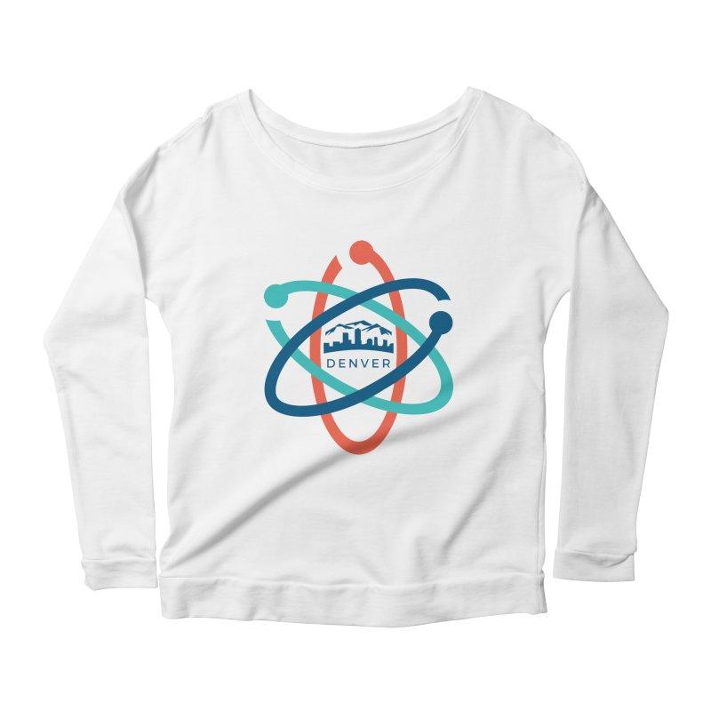 Denver March For Science Logo Women's Scoop Neck Longsleeve T-Shirt by Denver March For Science's Artist Shop