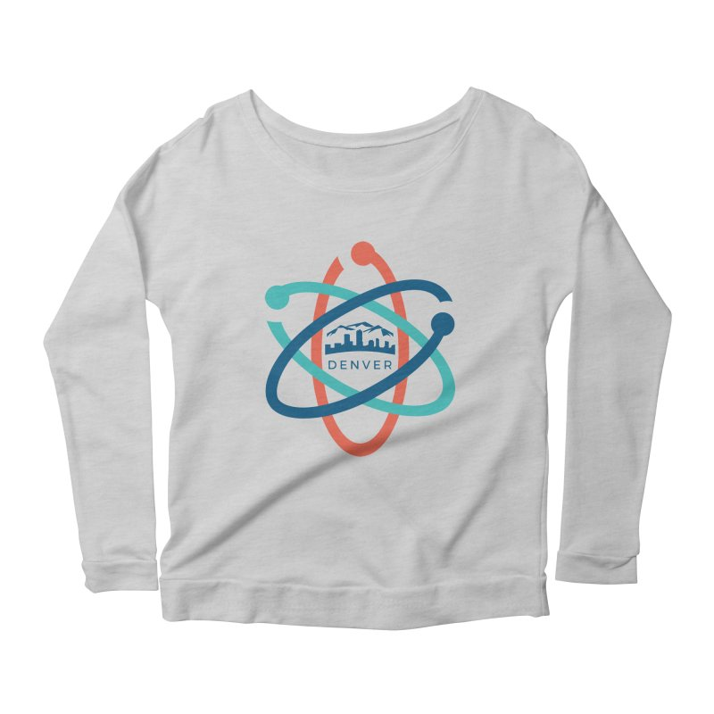 Denver March For Science Logo Women's Scoop Neck Longsleeve T-Shirt by Denver March For Science's Artist Shop