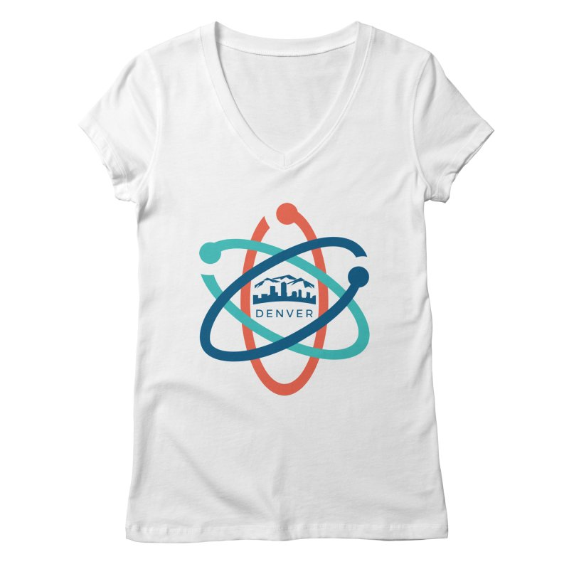 Denver March For Science Logo Women's Regular V-Neck by Denver March For Science's Artist Shop