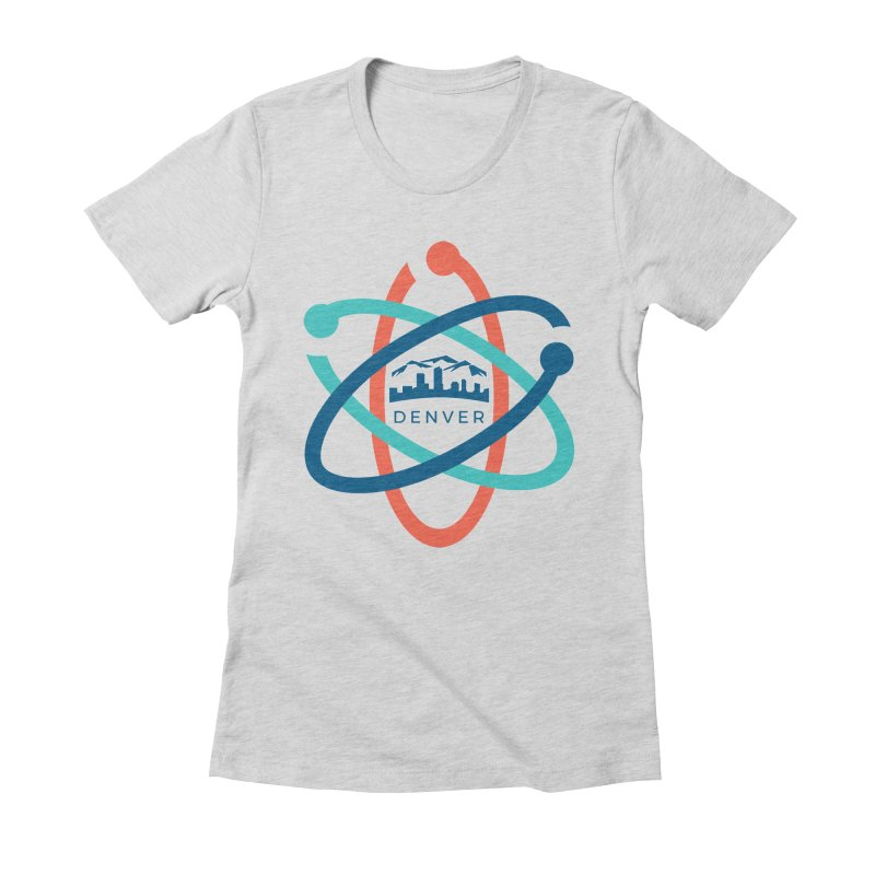 Denver March For Science Logo Women's Fitted T-Shirt by Denver March For Science's Artist Shop