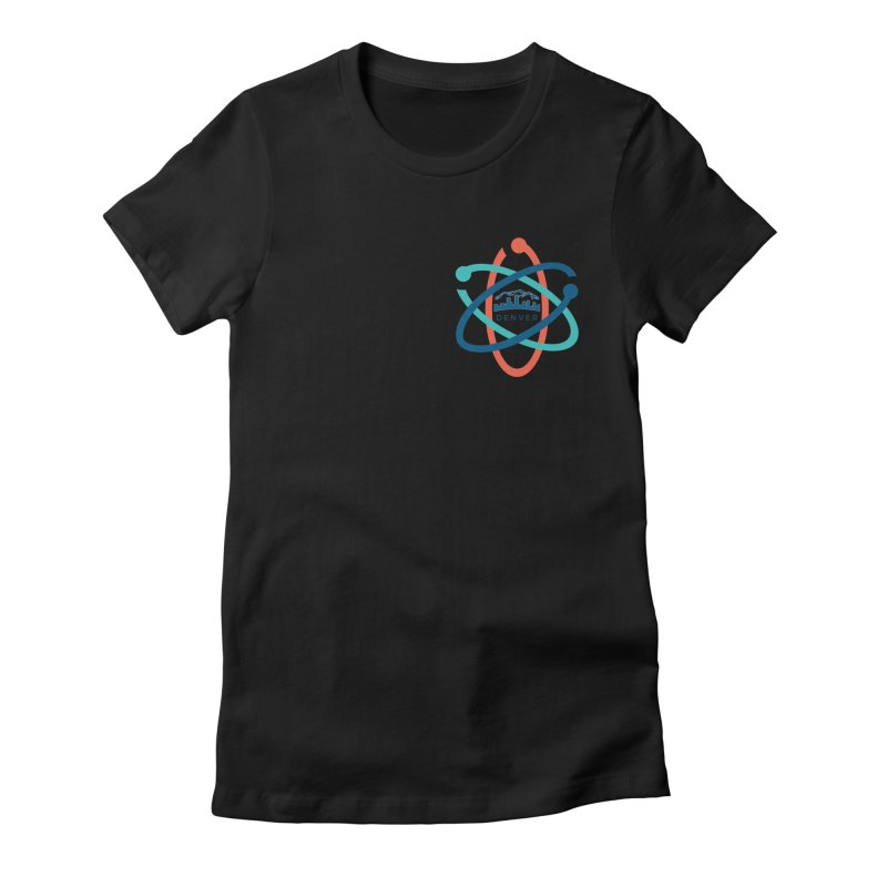 Denver March For Science Pocket Logo in Women's Fitted T-Shirt Black by Denver March For Science's Artist Shop