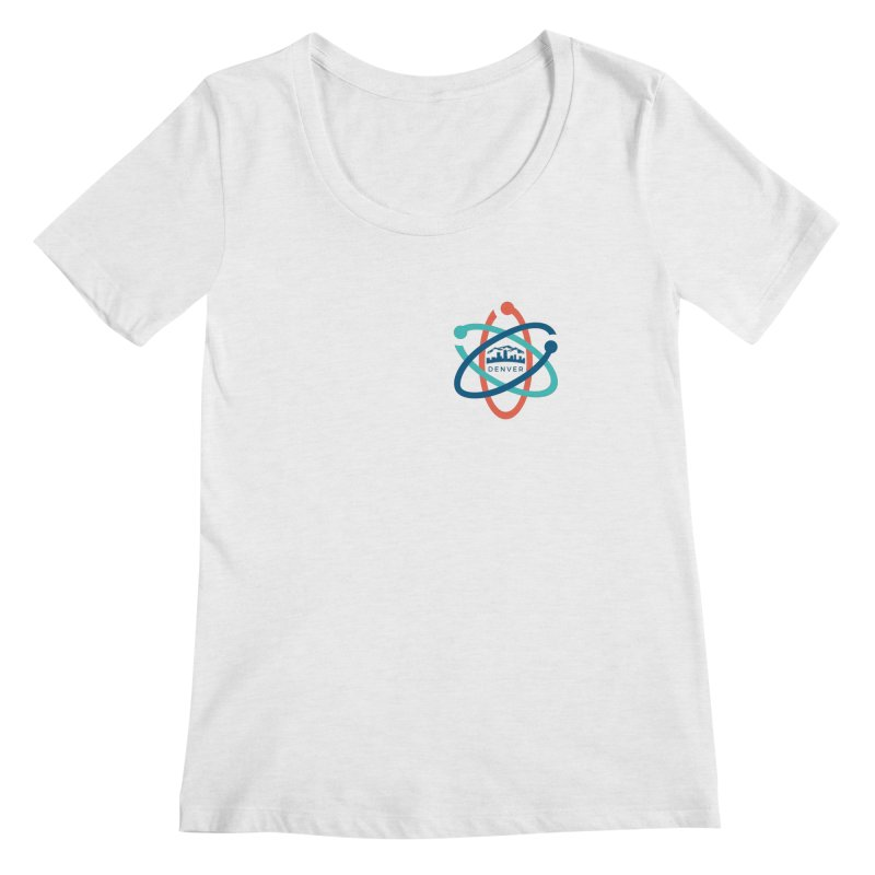 Denver March For Science Pocket Logo Women's Regular Scoop Neck by Denver March For Science's Artist Shop