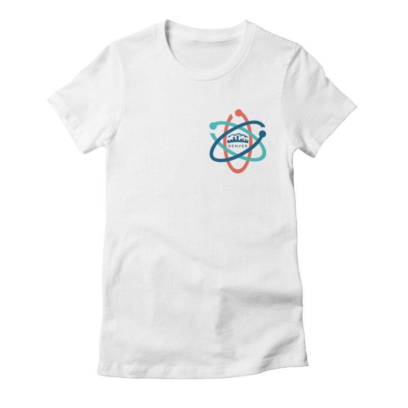 Denver March For Science Pocket Logo Women's Fitted T-Shirt by Denver March For Science's Artist Shop