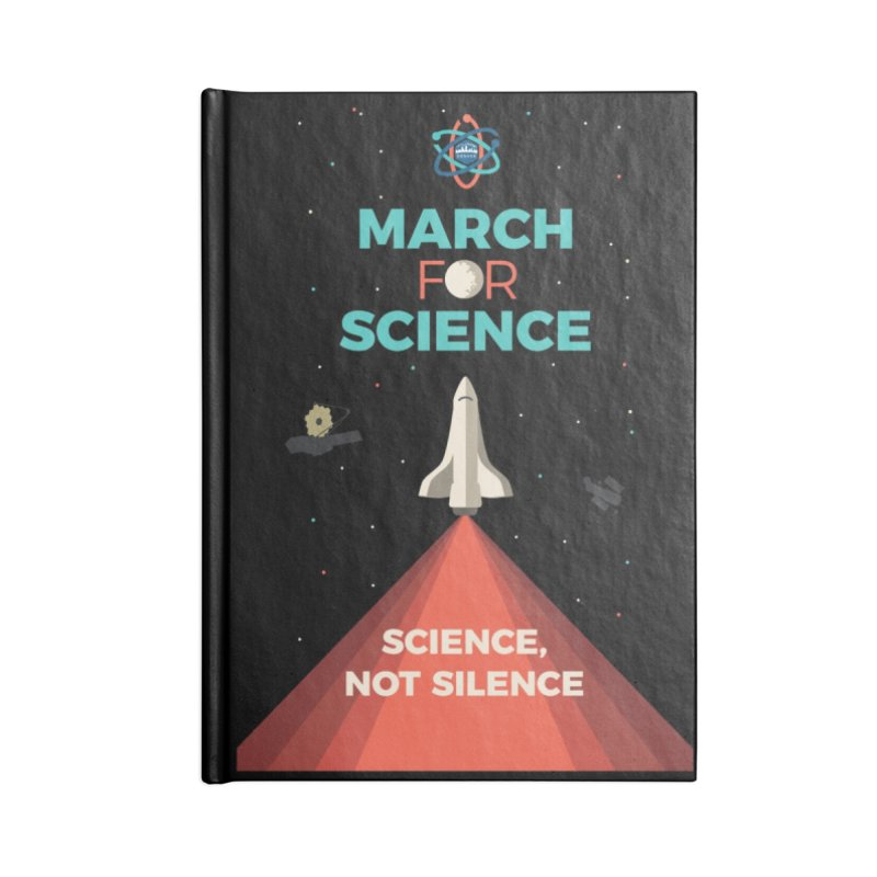 Denver March For Science Shuttle Accessories Notebook by Denver March For Science's Artist Shop