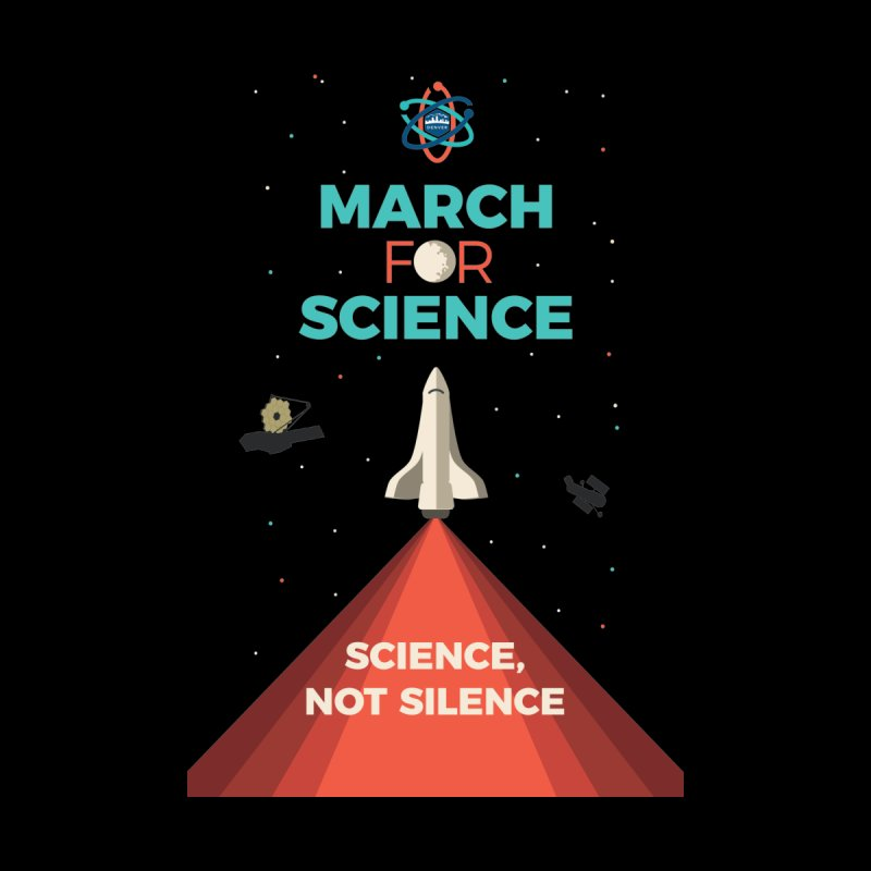 Denver March For Science Shuttle Men's T-Shirt by Denver March For Science's Artist Shop