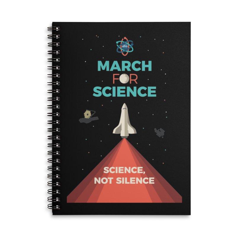 Denver March For Science Shuttle Accessories Lined Spiral Notebook by Denver March For Science's Artist Shop