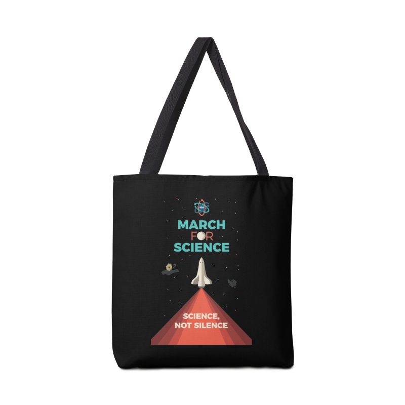 Denver March For Science Shuttle Accessories Tote Bag Bag by Denver March For Science's Artist Shop
