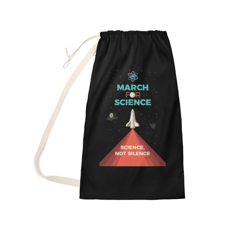 Denver March For Science Shuttle Accessories Laundry Bag Bag by Denver March For Science's Artist Shop