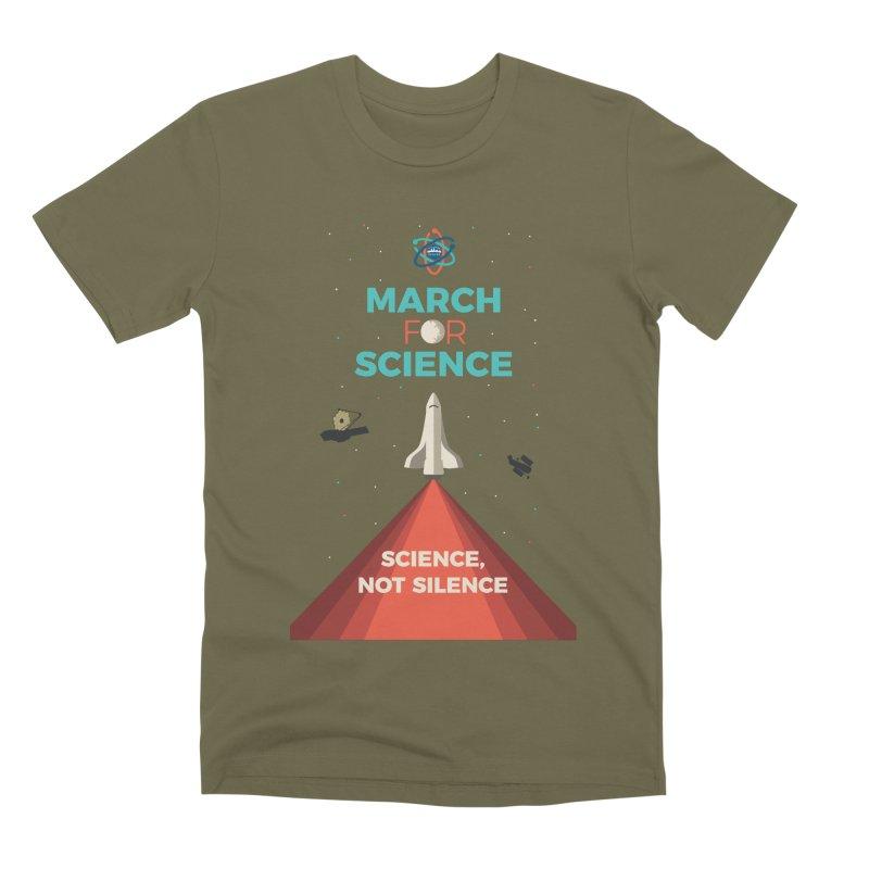 Denver March For Science Shuttle Men's Premium T-Shirt by Denver March For Science's Artist Shop