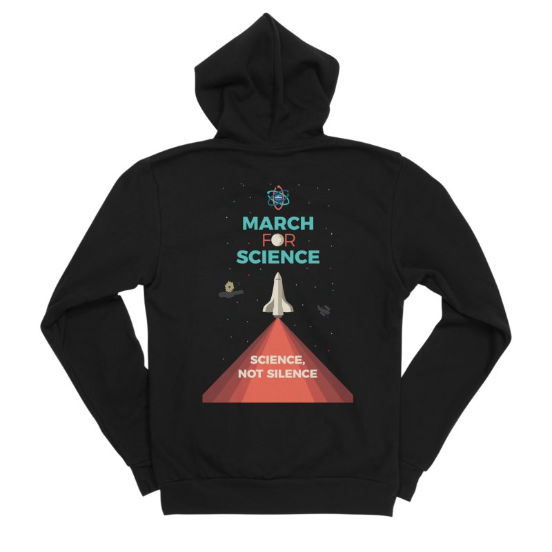 Denver March For Science Shuttle Men's Sponge Fleece Zip-Up Hoody by Denver March For Science's Artist Shop