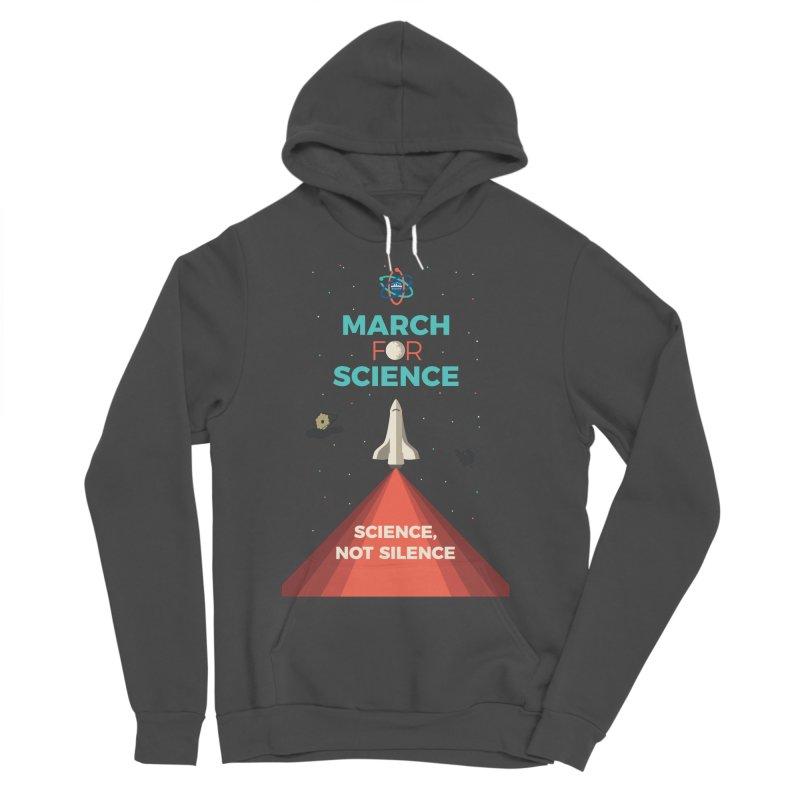 Denver March For Science Shuttle Men's Sponge Fleece Pullover Hoody by Denver March For Science's Artist Shop