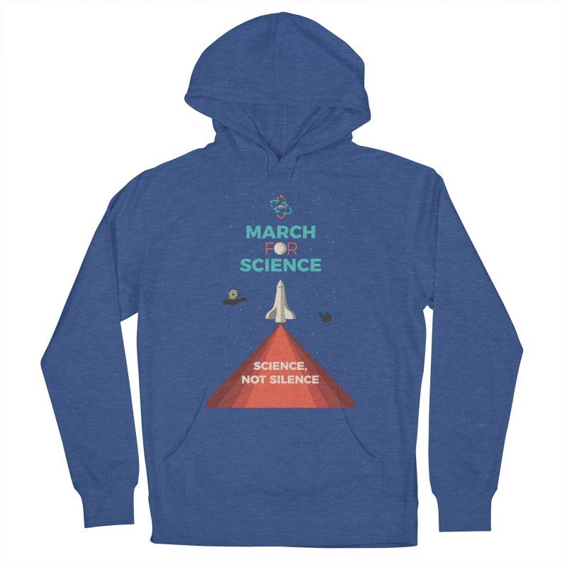 Denver March For Science Shuttle Men's Pullover Hoody by Denver March For Science's Artist Shop