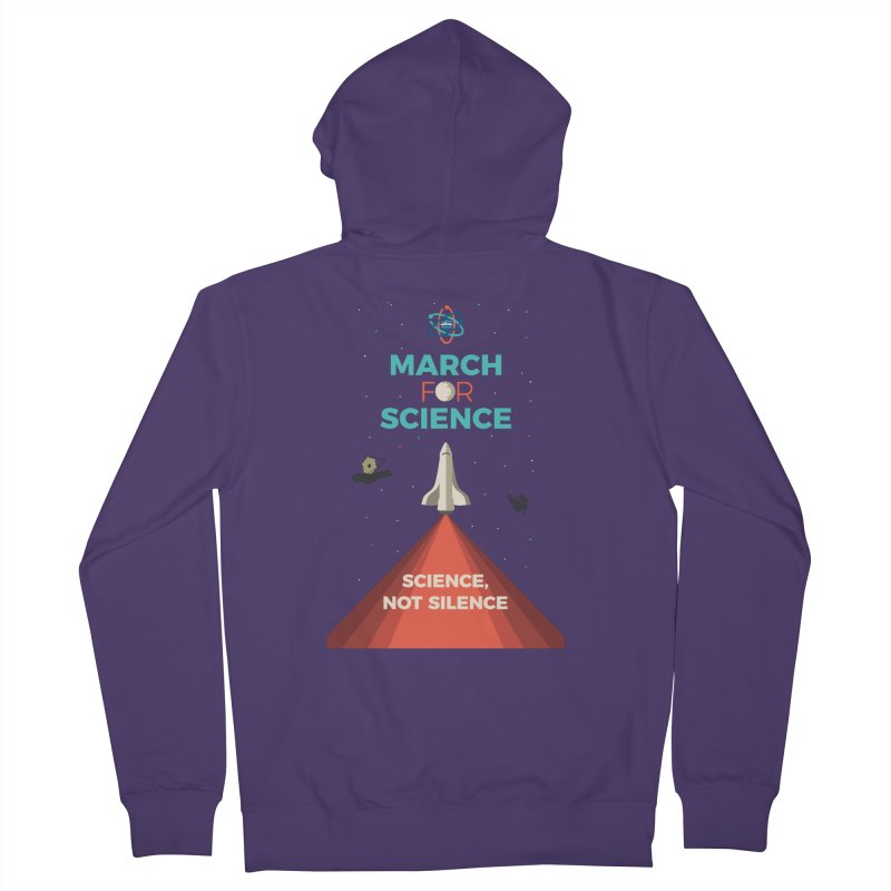 Denver March For Science Shuttle in Women's French Terry Zip-Up Hoody Heather Purple by Denver March For Science's Artist Shop