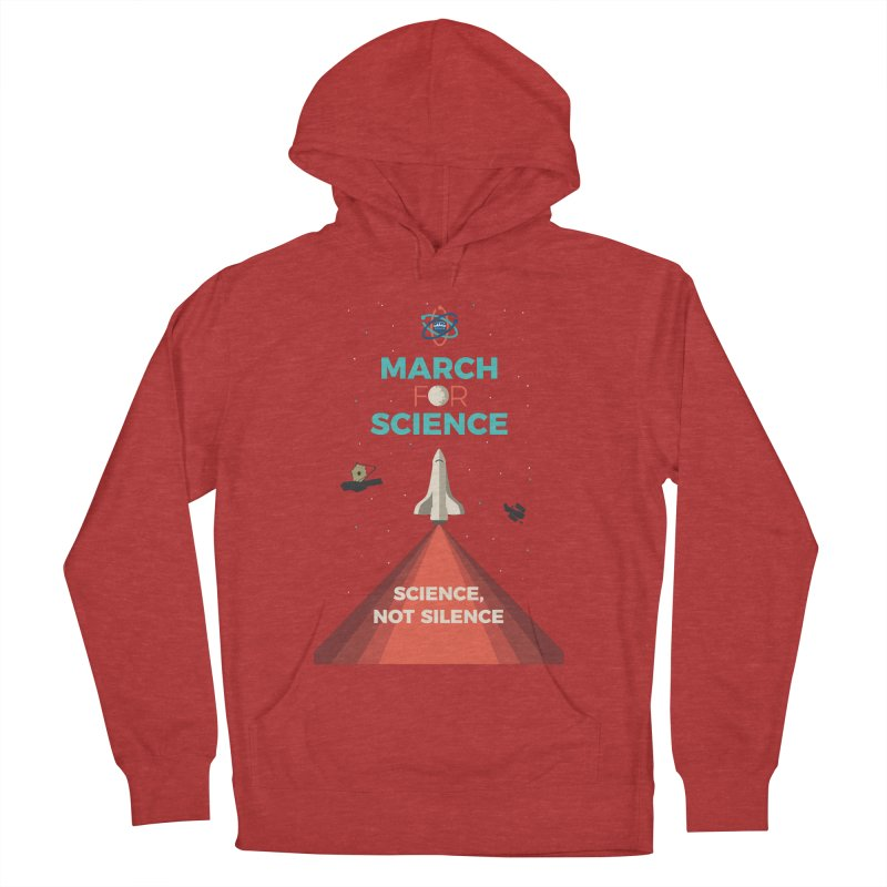 Denver March For Science Shuttle Men's French Terry Pullover Hoody by Denver March For Science's Artist Shop