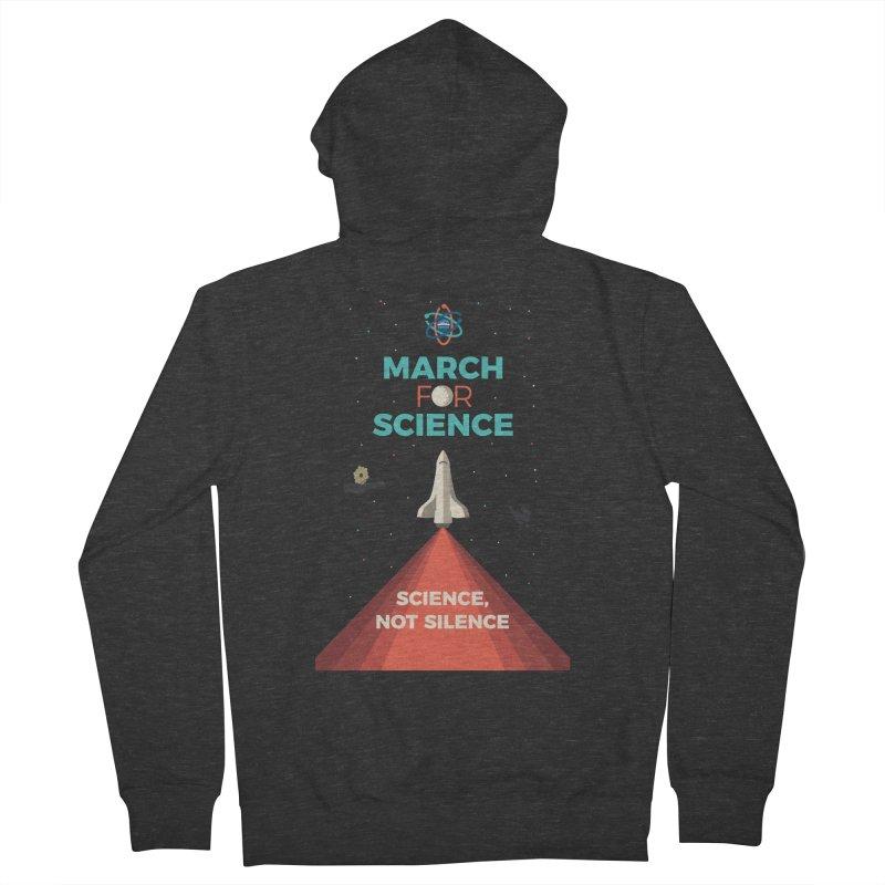 Denver March For Science Shuttle Men's French Terry Zip-Up Hoody by Denver March For Science's Artist Shop
