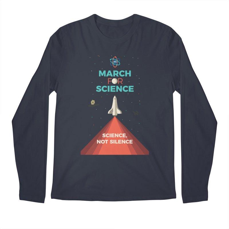 Denver March For Science Shuttle Men's Regular Longsleeve T-Shirt by Denver March For Science's Artist Shop
