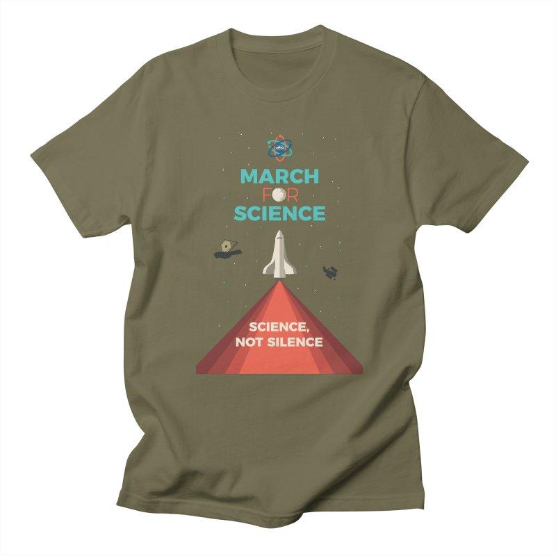 Denver March For Science Shuttle Men's Regular T-Shirt by Denver March For Science's Artist Shop