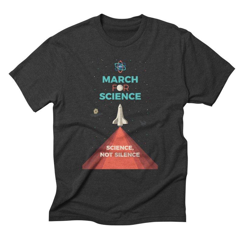 Denver March For Science Shuttle Men's Triblend T-Shirt by Denver March For Science's Artist Shop