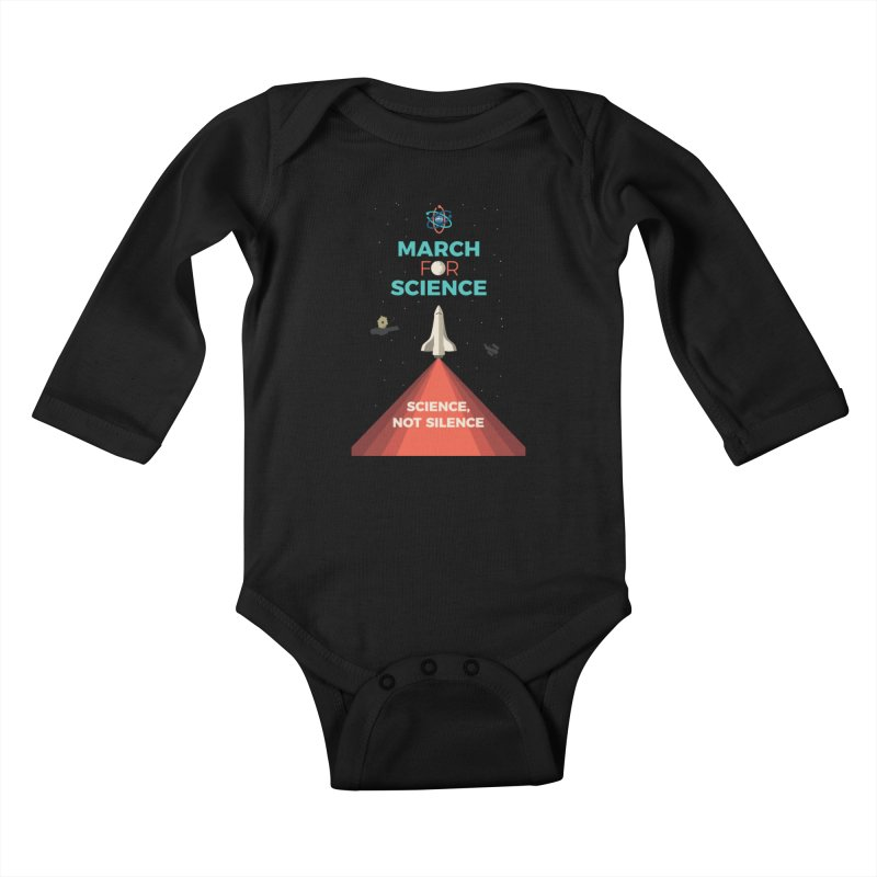 Denver March For Science Shuttle Kids Baby Longsleeve Bodysuit by Denver March For Science's Artist Shop