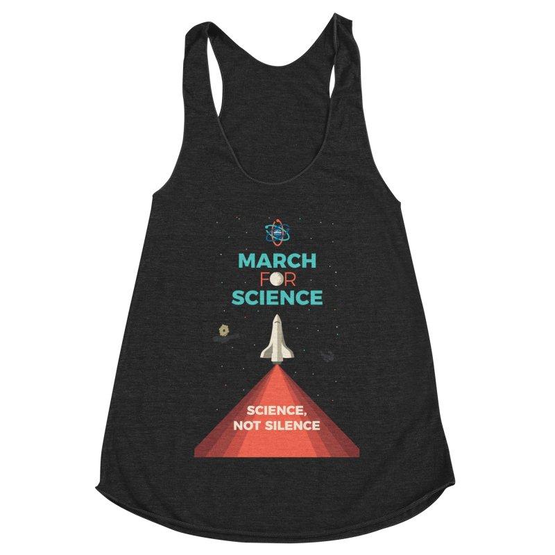 Denver March For Science Shuttle Women's Racerback Triblend Tank by Denver March For Science's Artist Shop