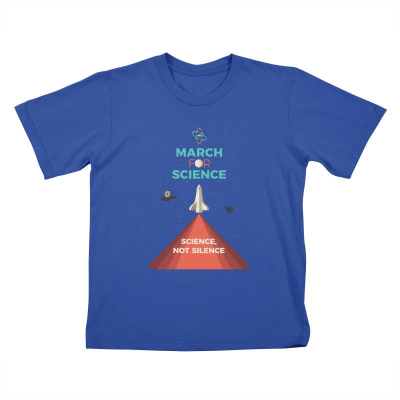 Denver March For Science Shuttle Kids T-Shirt by Denver March For Science's Artist Shop