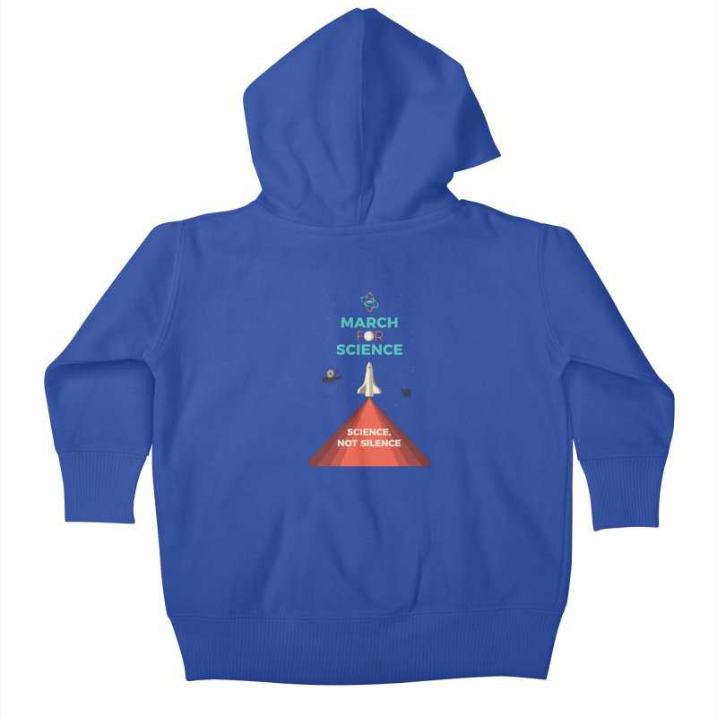Denver March For Science Shuttle Kids Baby Zip-Up Hoody by Denver March For Science's Artist Shop
