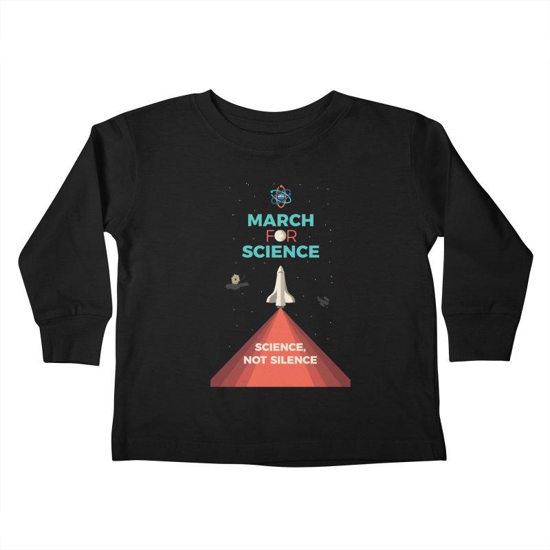 Denver March For Science Shuttle Kids Toddler Longsleeve T-Shirt by Denver March For Science's Artist Shop