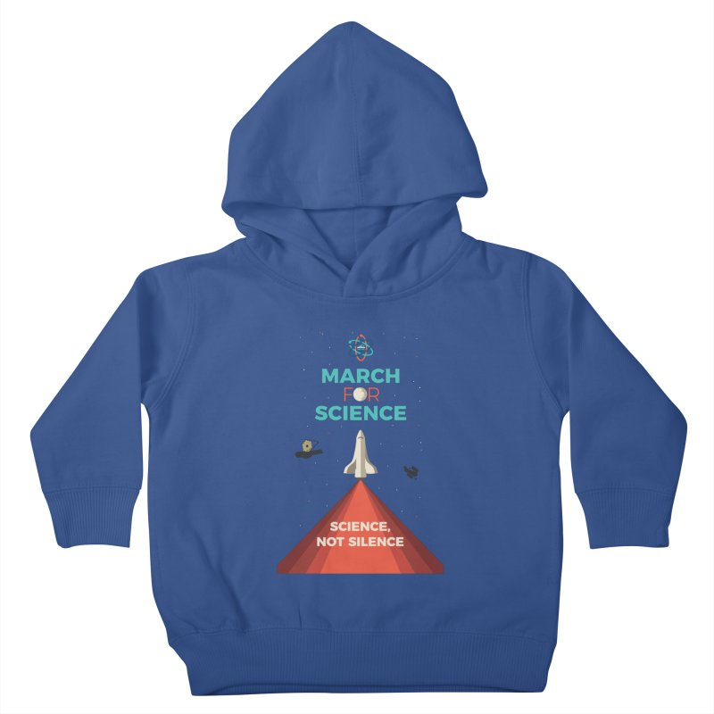 Denver March For Science Shuttle Kids Toddler Pullover Hoody by Denver March For Science's Artist Shop