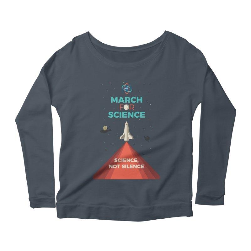 Denver March For Science Shuttle Women's Scoop Neck Longsleeve T-Shirt by Denver March For Science's Artist Shop