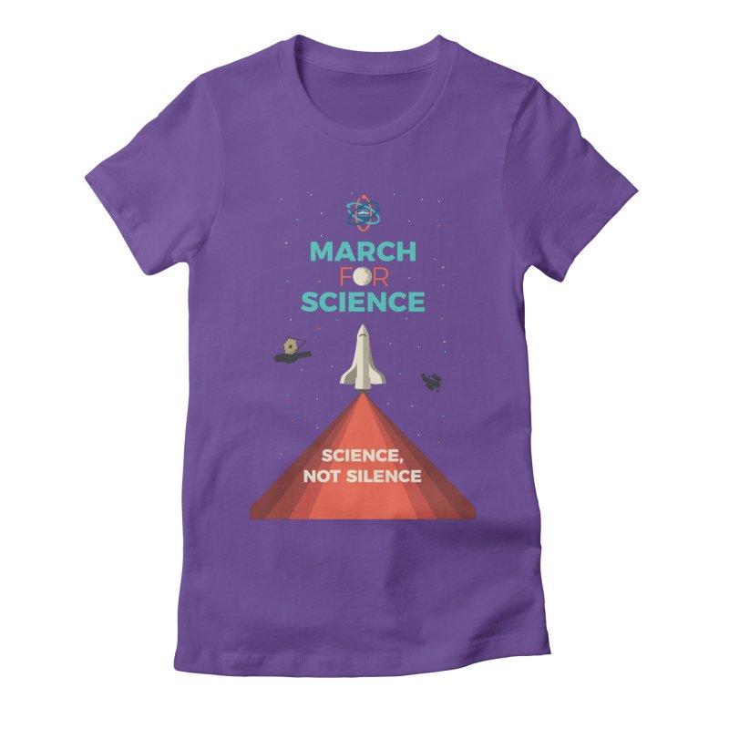 Denver March For Science Shuttle Women's Fitted T-Shirt by Denver March For Science's Artist Shop