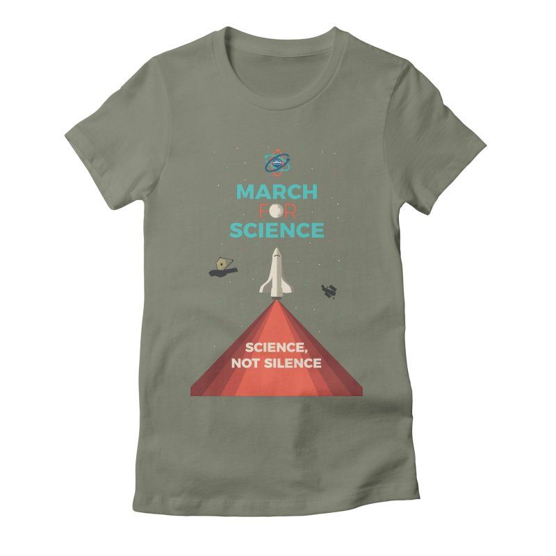 Denver March For Science Shuttle Women's T-Shirt by Denver March For Science's Artist Shop