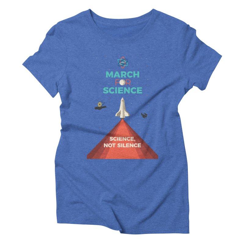 Denver March For Science Shuttle Women's Triblend T-Shirt by Denver March For Science's Artist Shop