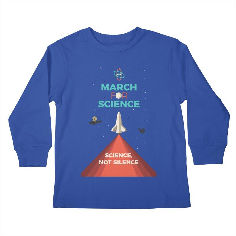 Denver March For Science Shuttle Kids Longsleeve T-Shirt by Denver March For Science's Artist Shop