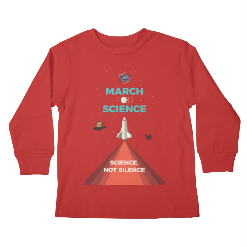 Denver March For Science Shuttle Kids Longsleeve T-Shirt by Denver March For Science's Artist Shop