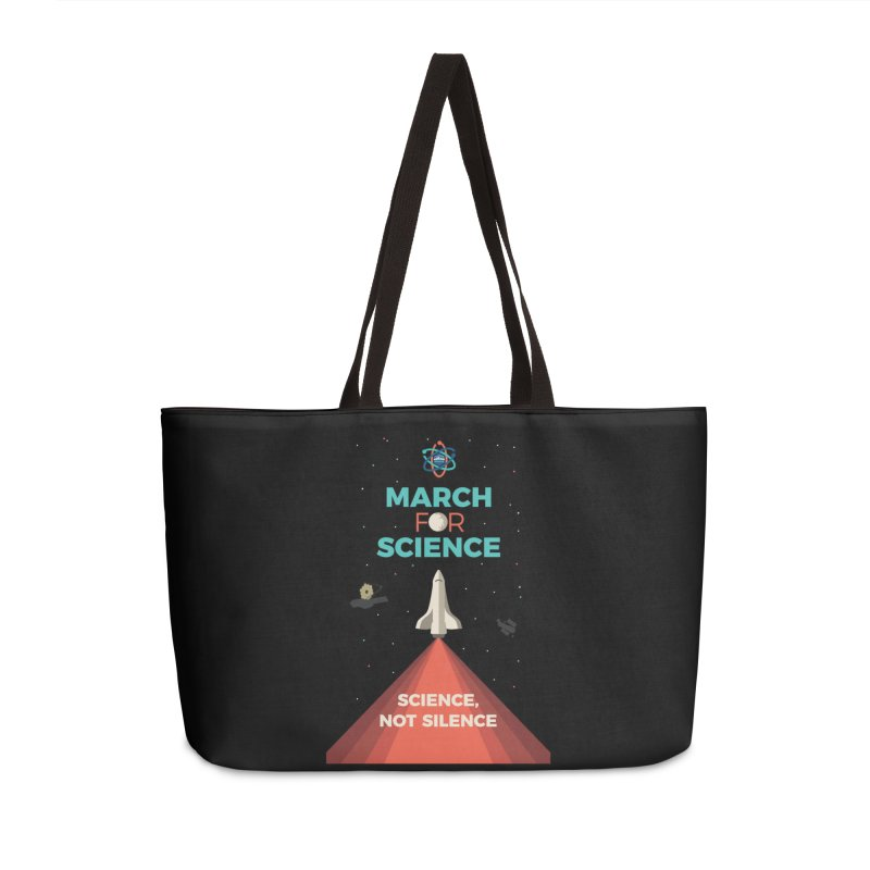 Denver March For Science Shuttle Accessories Weekender Bag Bag by Denver March For Science's Artist Shop