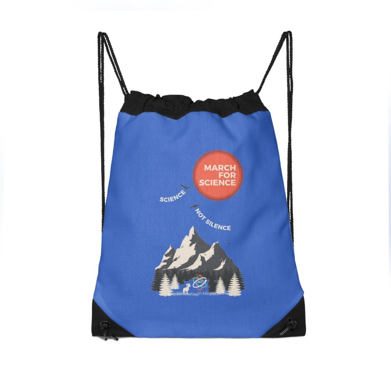 Denver March For Science Ecology Accessories Drawstring Bag Bag by Denver March For Science's Artist Shop