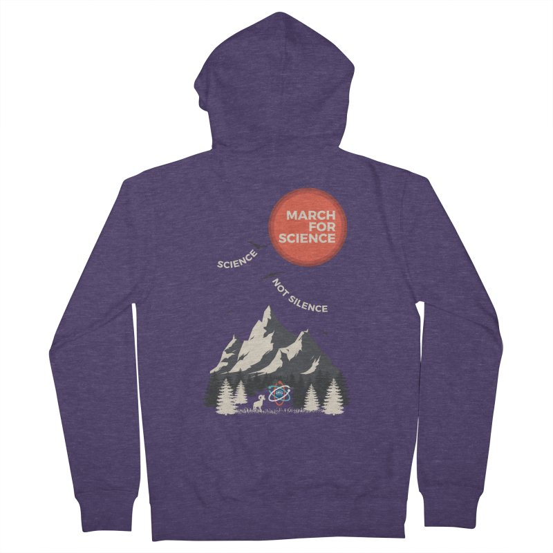 Denver March For Science Ecology Men's French Terry Zip-Up Hoody by Denver March For Science's Artist Shop