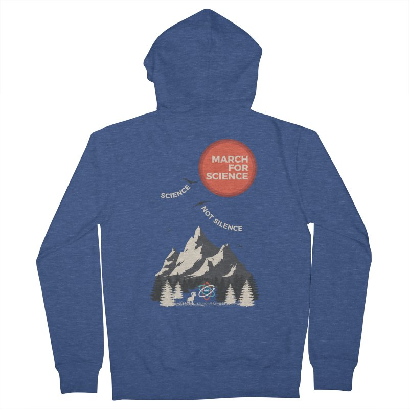 Denver March For Science Ecology Men's Zip-Up Hoody by Denver March For Science's Artist Shop