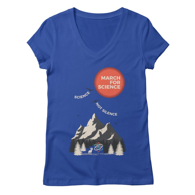Denver March For Science Ecology Women's Regular V-Neck by Denver March For Science's Artist Shop