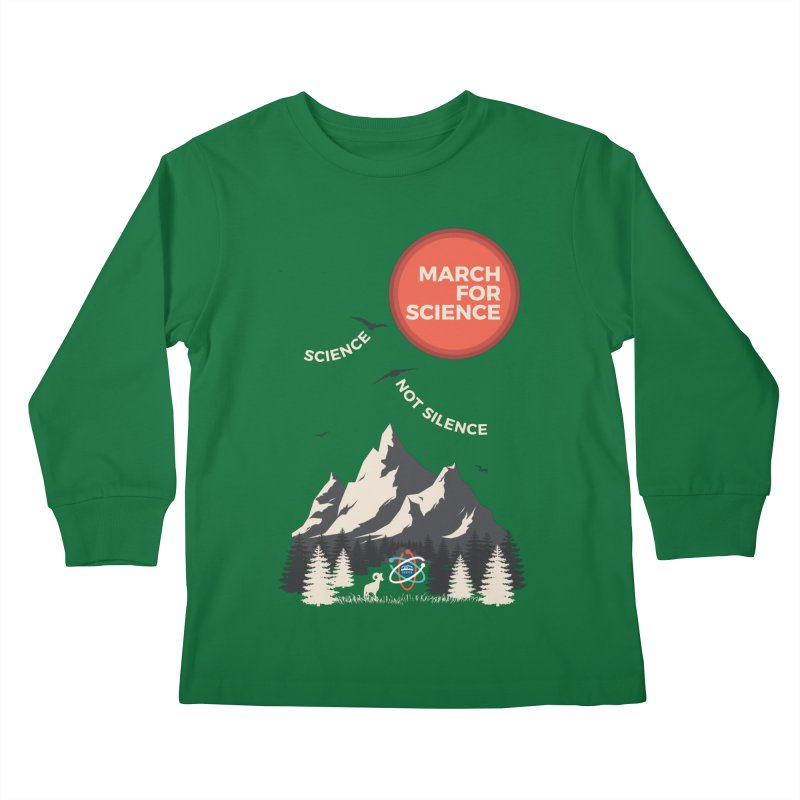 Denver March For Science Ecology in Kids Longsleeve T-Shirt Kelly Green by Denver March For Science's Artist Shop