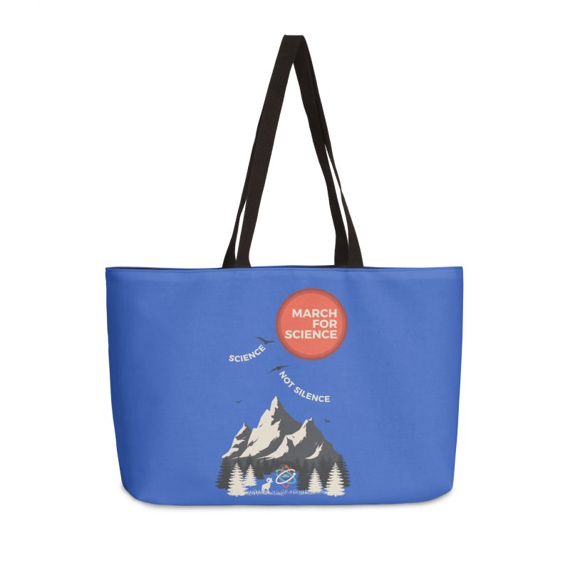 Denver March For Science Ecology Accessories Weekender Bag Bag by Denver March For Science's Artist Shop